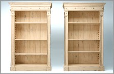 Bookcases, mantels and wardrobes.